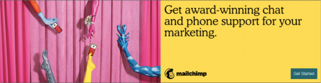 An example of a banner ad