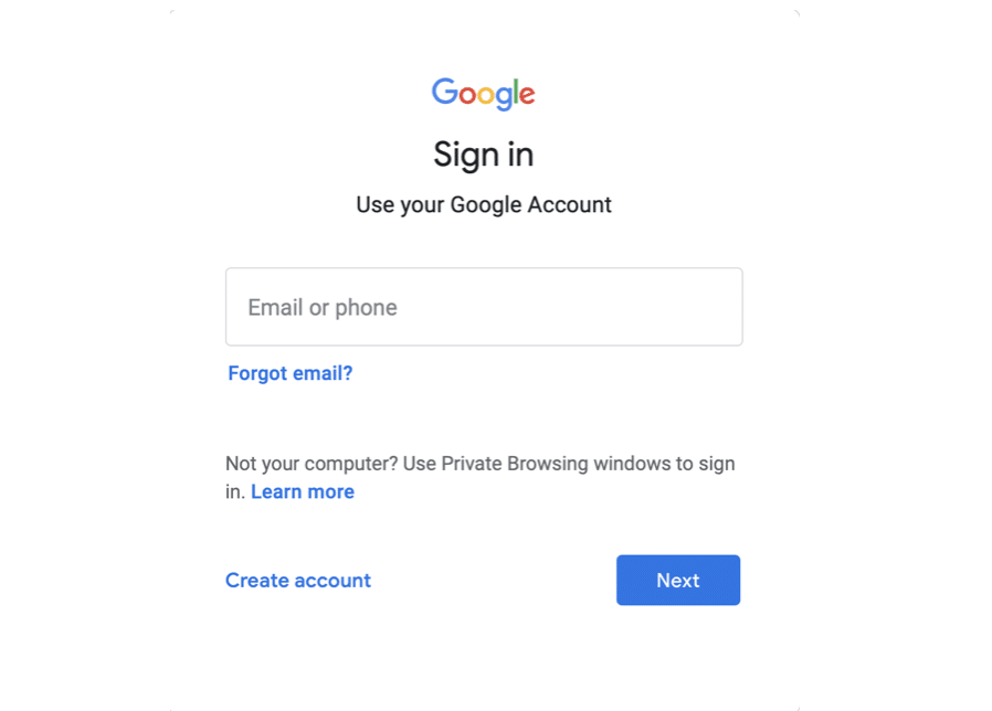 Sign in to your Gmail Account.