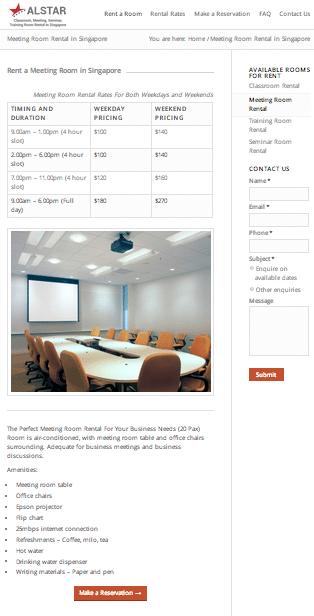 Sample standard webpage design