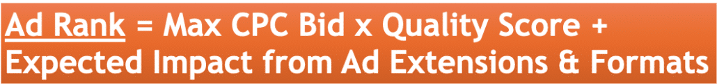 Formula to calculate Ad Rank