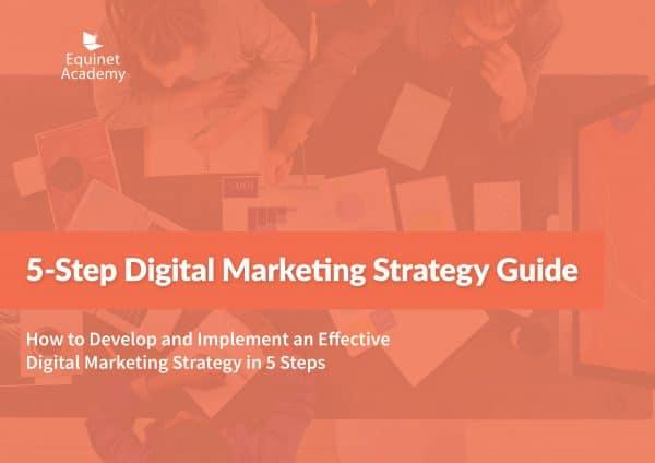 5-Step Digital Marketing Strategy Guide eBook Cover Landscape