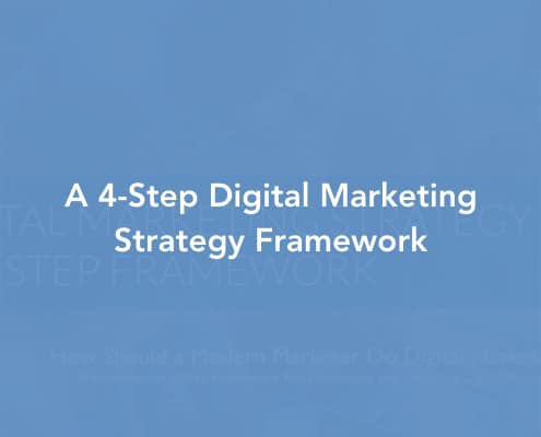 A 4-Step Digital Marketing Strategy Framework