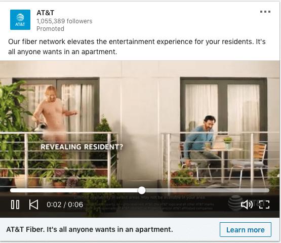 AT&T ads on Fiber Network