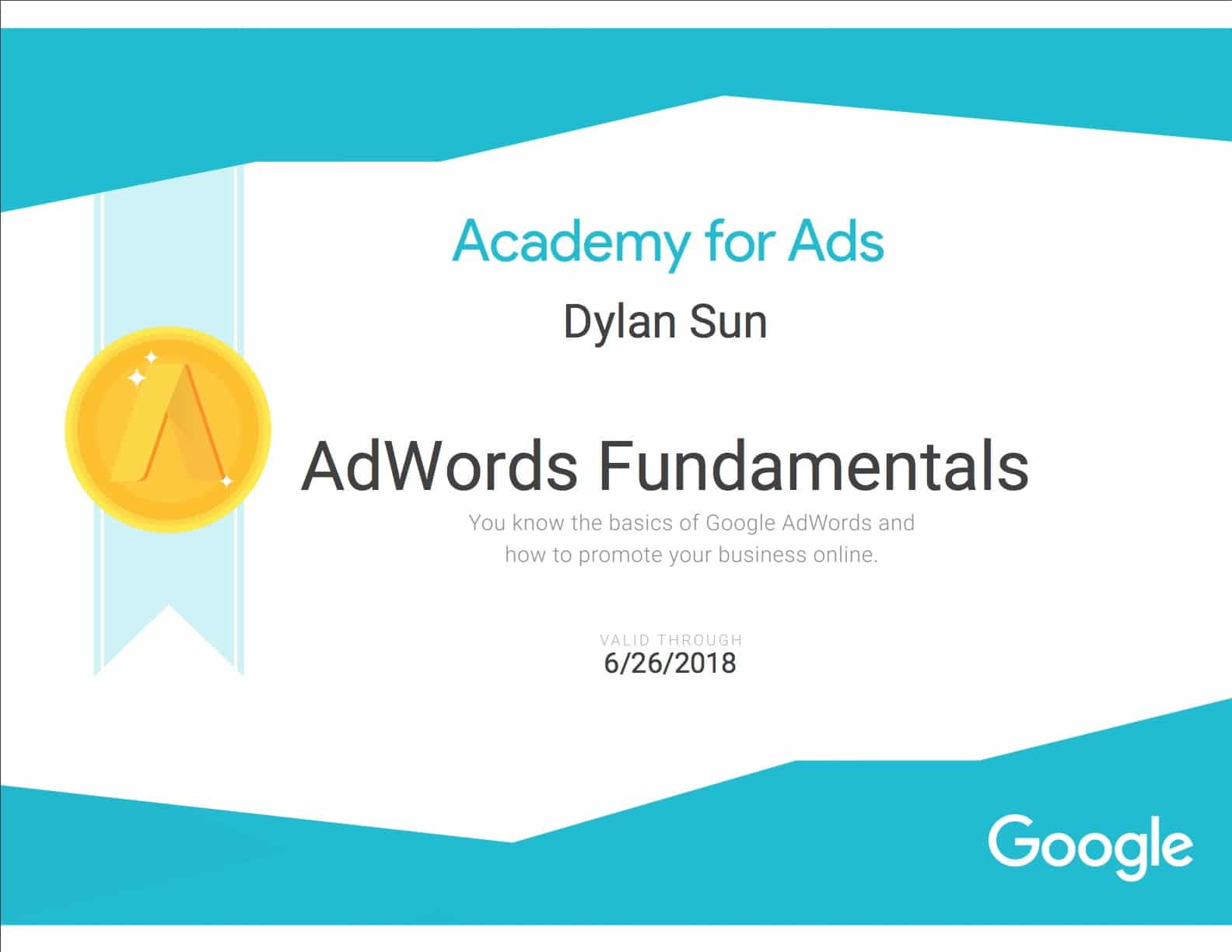 Google adwords fundamentals certification course 2018 equinet adwords fundamentals certificate sample google adwords fundamentals certificate sample xflitez Image collections