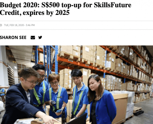 Singapore Budget 2020 additional funding skillsfuture credit article