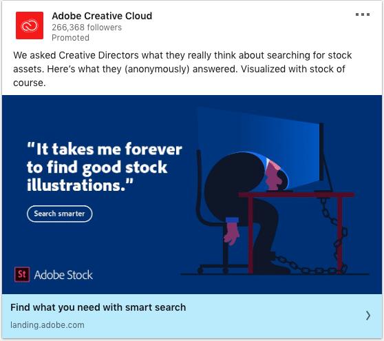 Adobe Creative Cloud ads on Adobe Stock