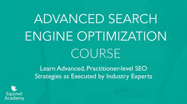 Advanced SEO Course Cover