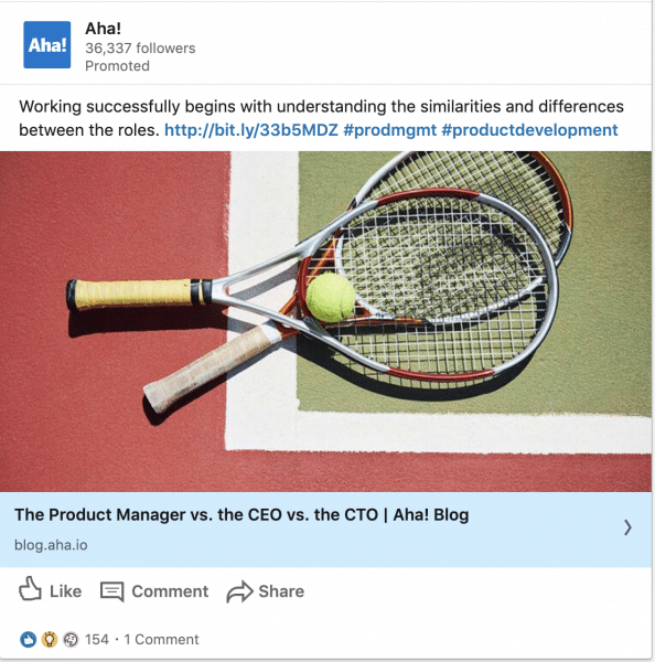 Aha! ads on The Product Manager vs. the CEO vs. the CTO
