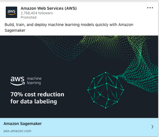 Amazon Web Services (AWS) ads on data labeling