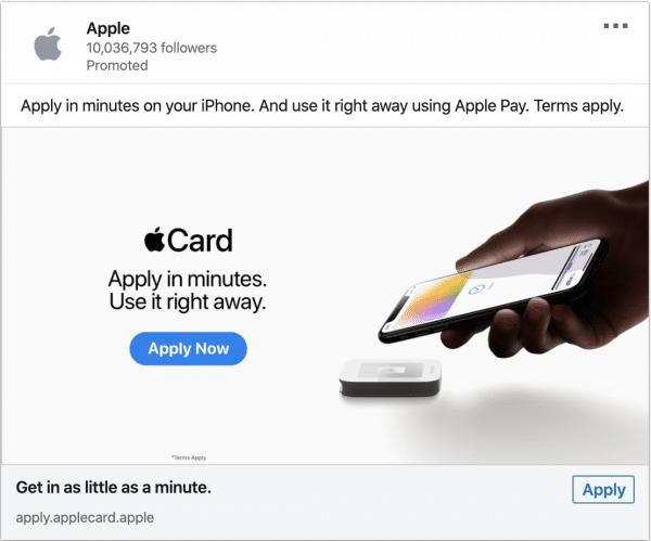 Apple ads on Apple Pay