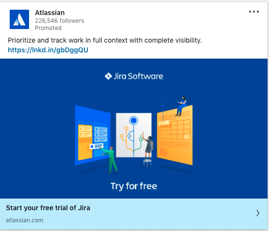Atlassian ads on Jira Software