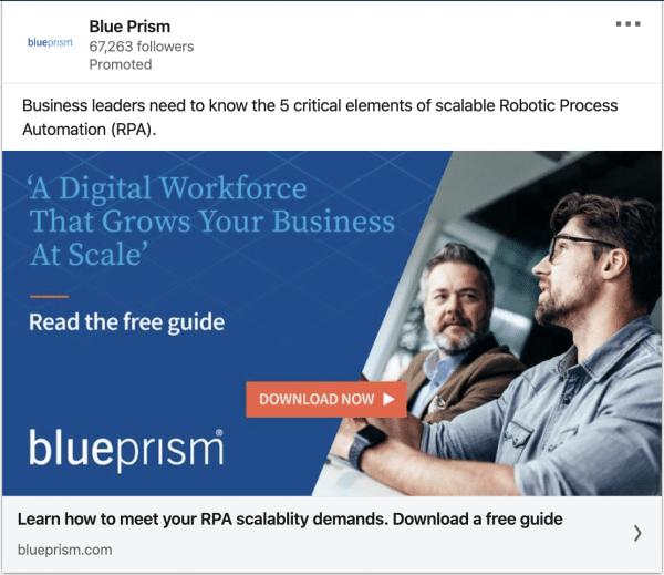 Blueprism ads on Digital Workforce