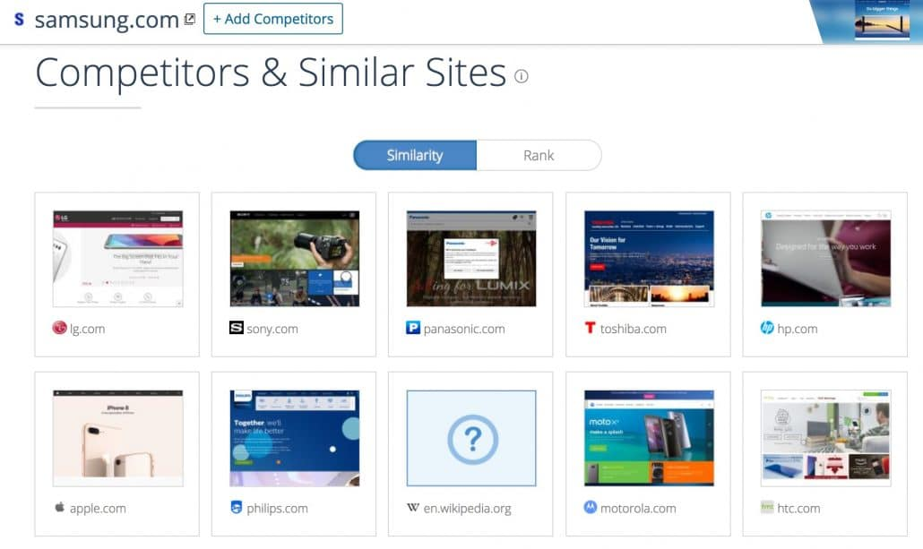 Competitors and similar websites - similarweb.com