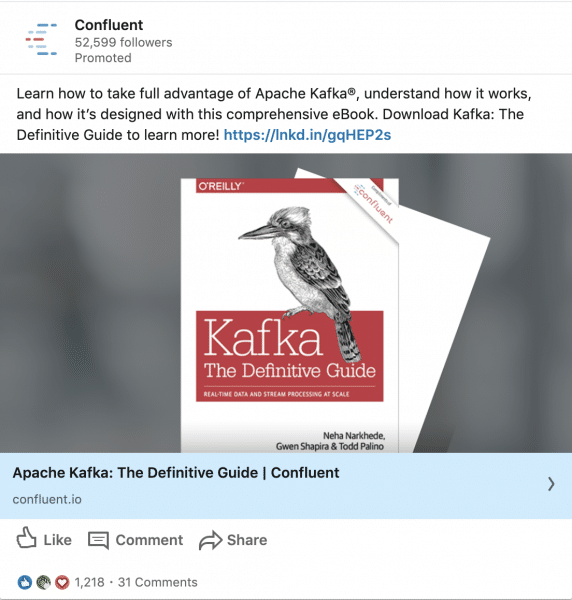 Confluent ads on Apache Kafta The Definitive Guide