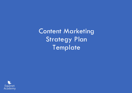Content Marketing Strategy Plan Template Cover Image