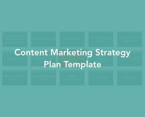 Content Marketing Strategy Plan Template Cover