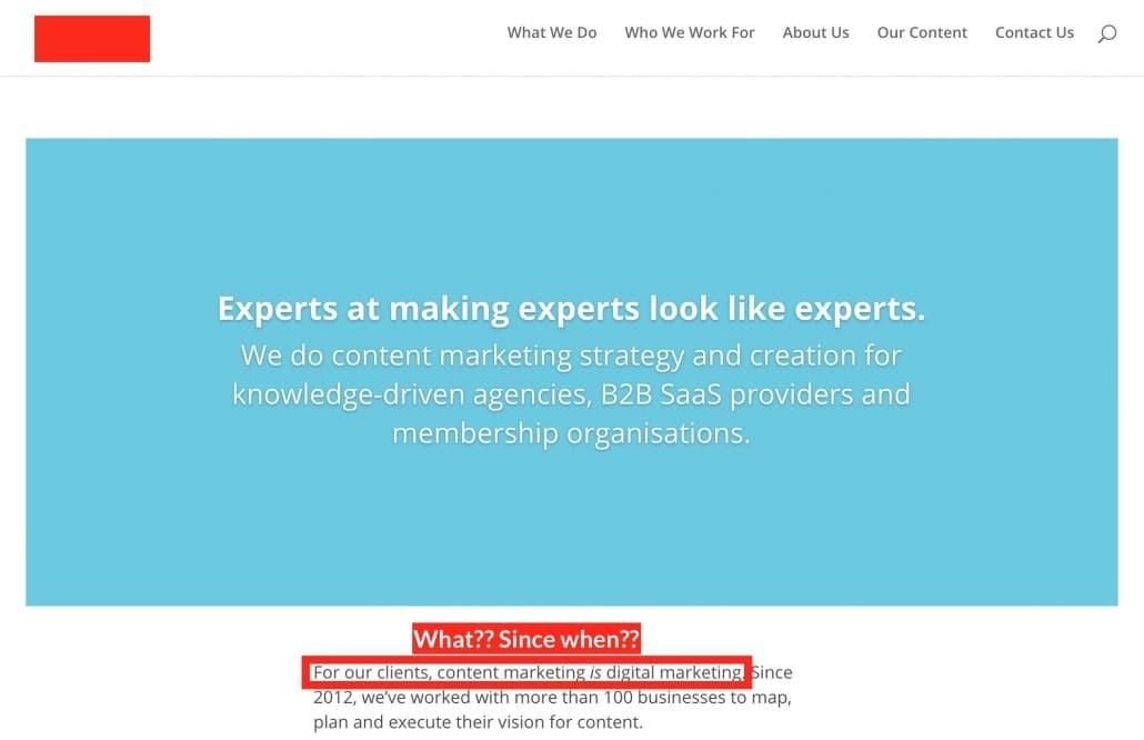 Content Marketing is Digital Marketing NOT