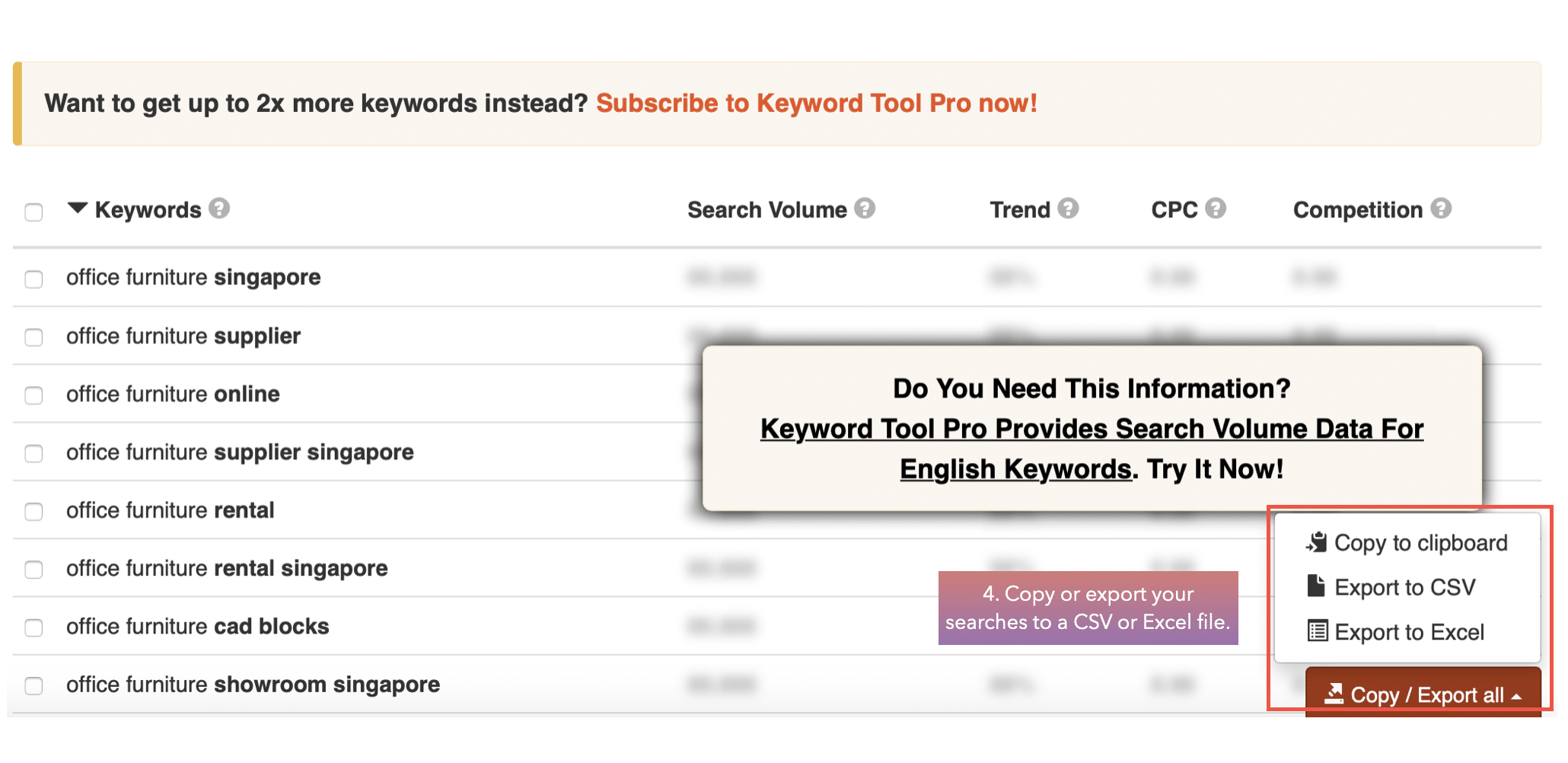 Copy-or-export-your-searches-to-a-CSV-or-Excel-file-keyword-io