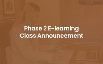 Phase 2 (Heightened Alert) In-person Classes Conversion to E-learning
