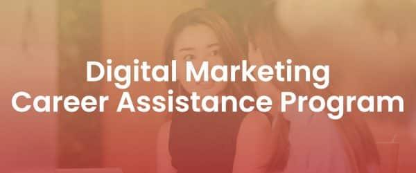 Digital Marketing Career Assistance Program Resources Page Cover Image