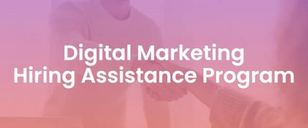Digital Marketing Hiring Assistance Program Resources Page Cover Image