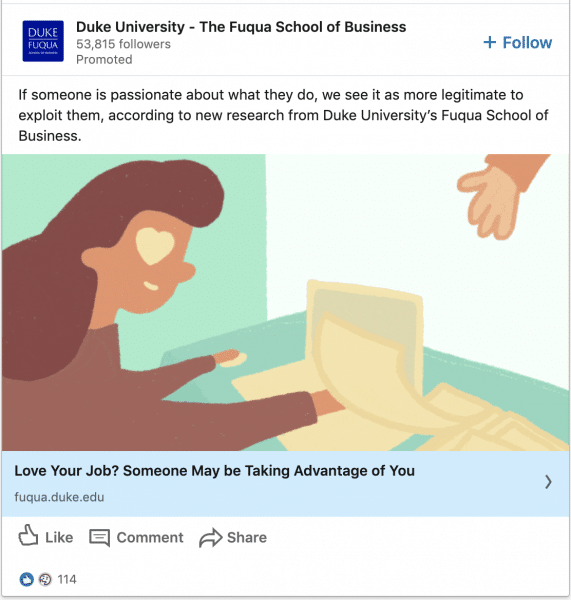 Duke University ads on their Latest Research