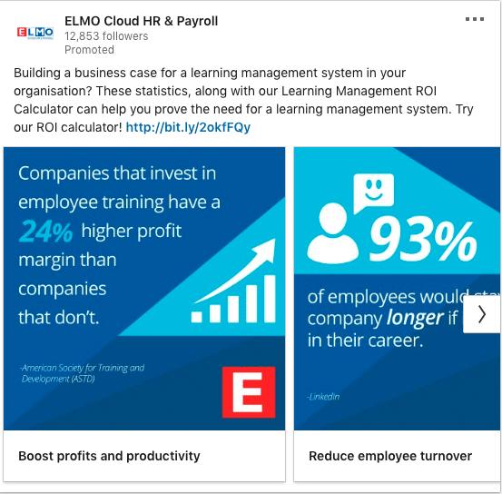 ELMO Cloud HR & Payroll ads on profits and productivity