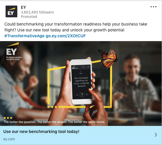 EY ads on new benchmarking tool
