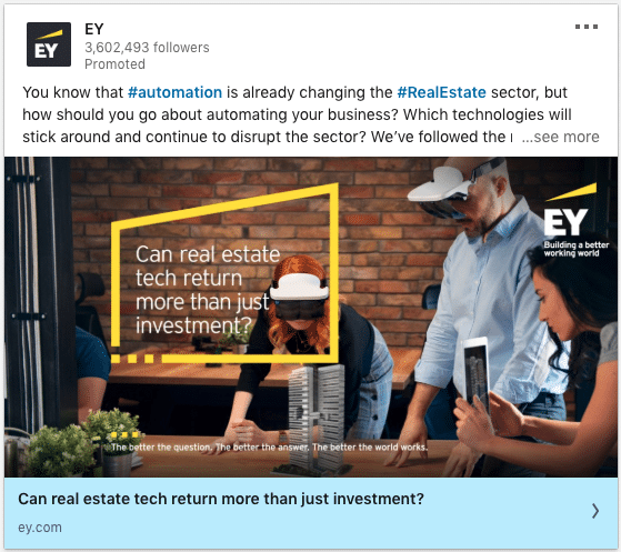 EY ads on real estate tech