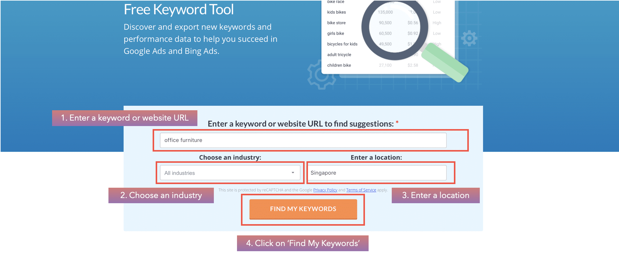 keyword competition in wordstream