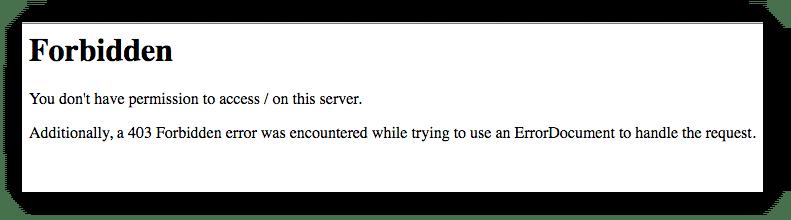 403 (Forbidden) HTTP Status Code