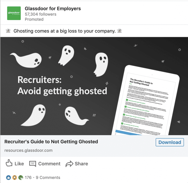 Glassdoor for Employers ads on Recruiter's Guide