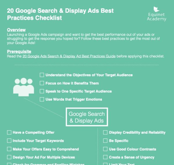 google ads checklist preview