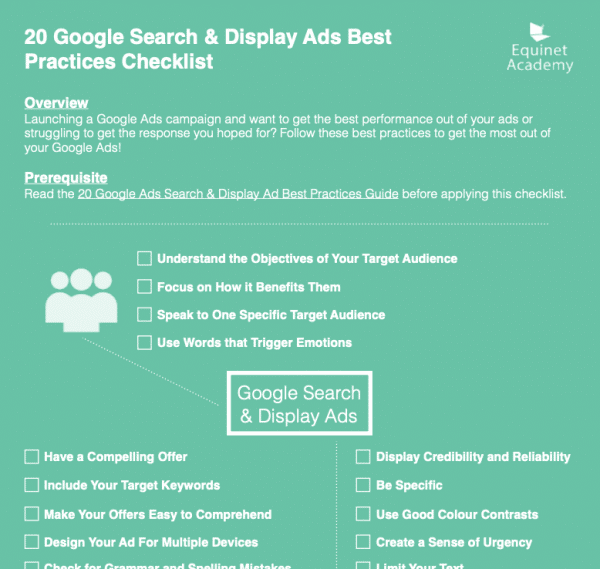 Google Ads checklist preview