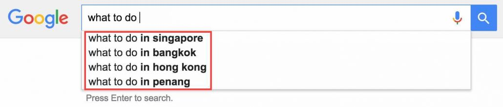 Google Suggest Example