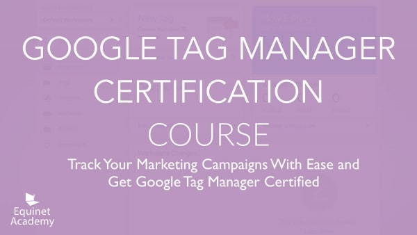 Google Tag Manager Certification Course Cover