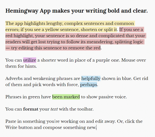 Hemingway Editor SEO