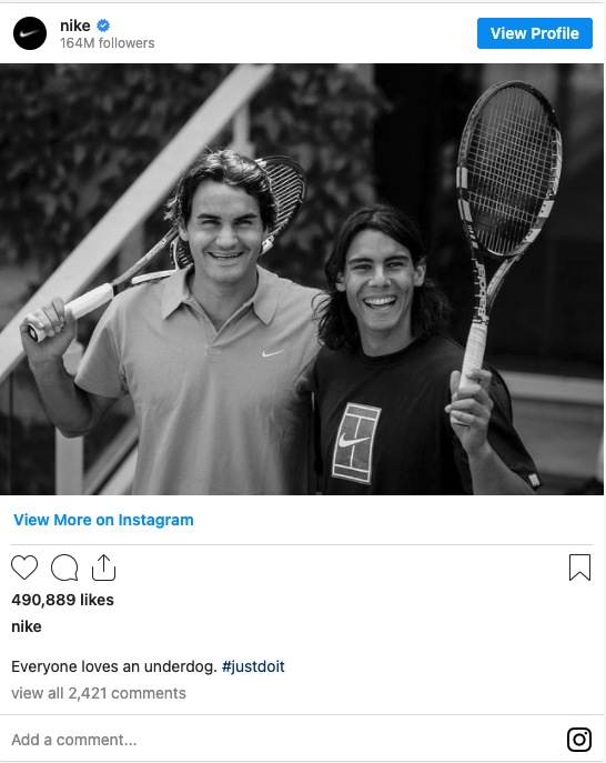Nike is no stranger to influencer marketing, and they have a whole plethora of celebrities under their wing.