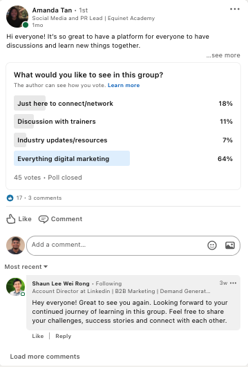 Conducting polls to gauge audience sentiment in order to give them what they want