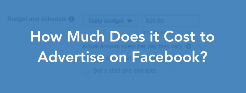 How much does it cost to advertise on facebook header image