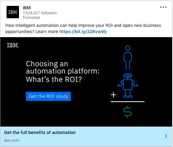 IBM ads on choosing an automation platform