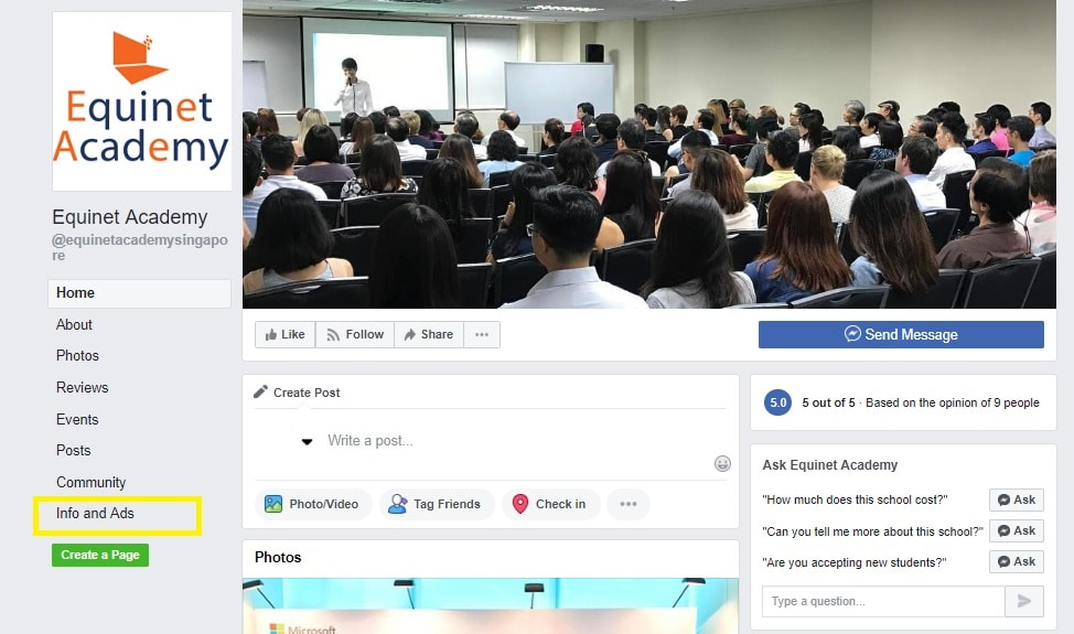 Equinet_Academy Facebook Page