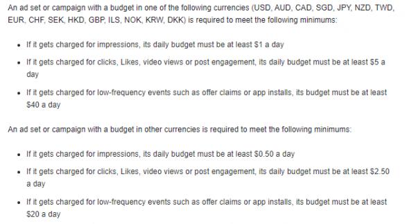 Minimum Spend Example