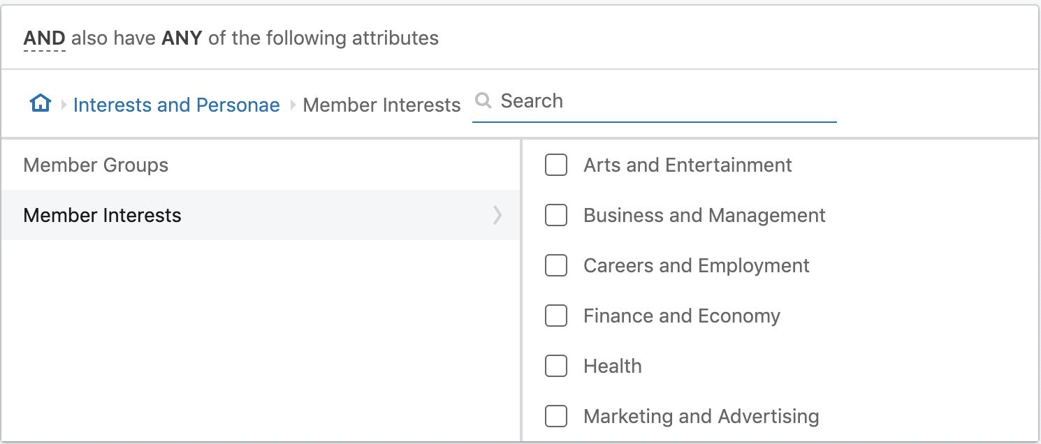 linkedin ads interest targeting