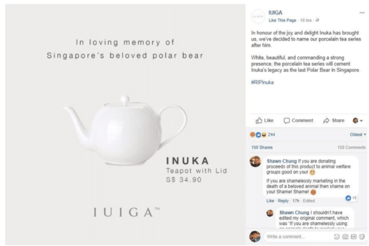 Iulgas Inuka teapot campaign