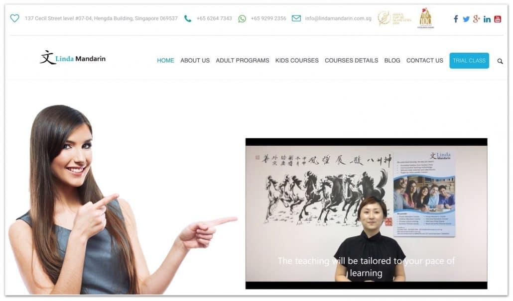 linda mandarin website