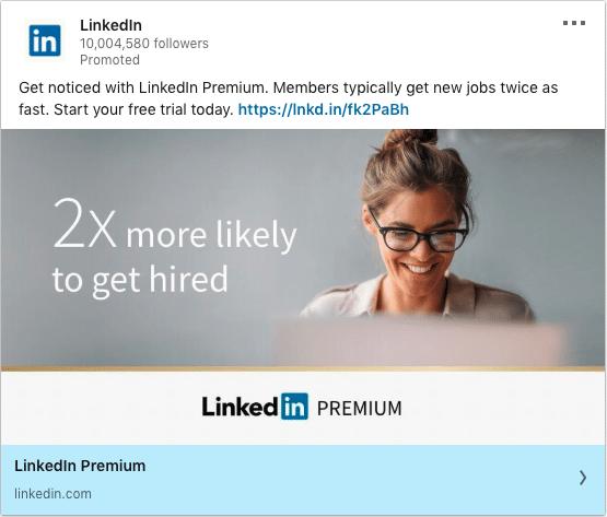 Linkedin ads on Linkedin Premium