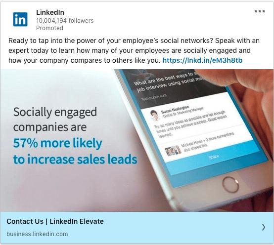 Linkedin ads on Sales Leads
