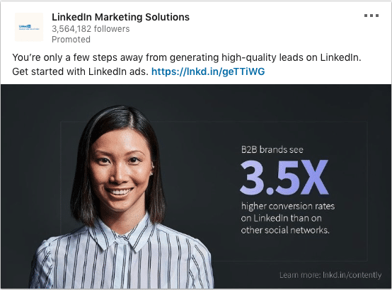 Linkedin Marketing Solutions ads on Leads And Conversion Rates
