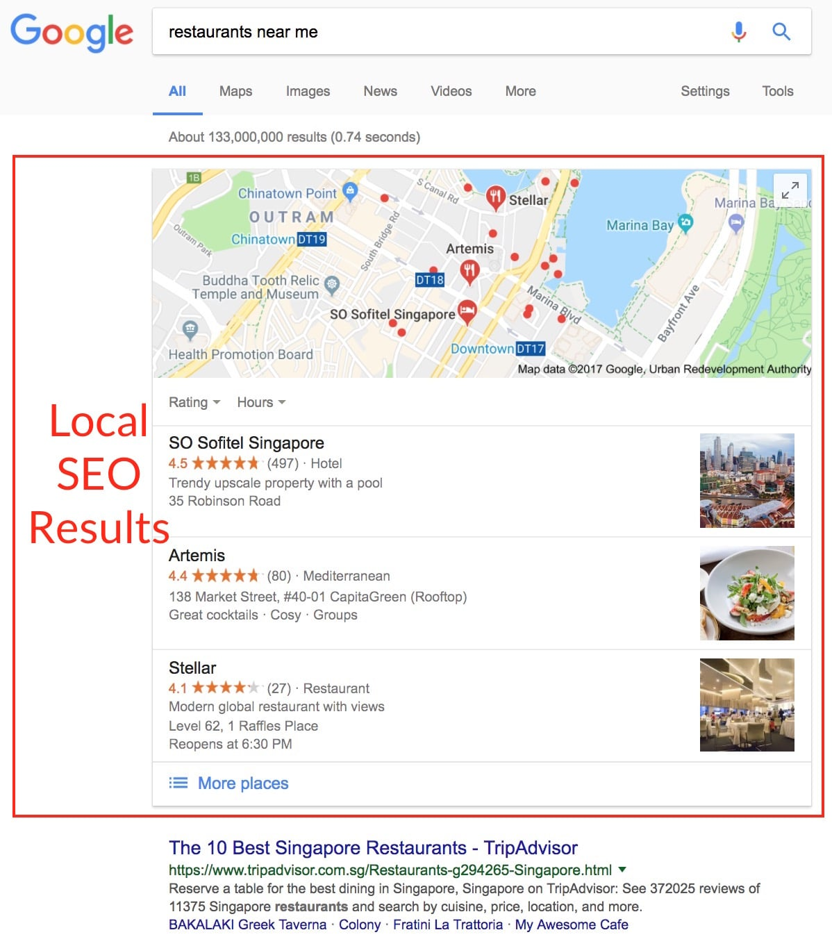 Local SEO Results Example